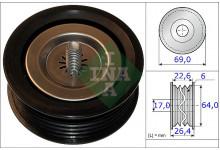Ролик ремня генератора (ребристый) MB Vito 639/ Sprinter 2.2CDI