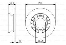 Тормозной диск задний Transit/Custom 2.2TDCI 2012-